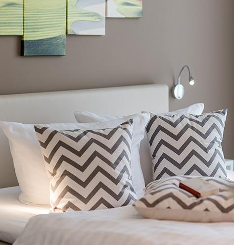 Luxus-Ferienwohnung am Fleesensee mit zwei Schlafzimmer und Boxspringbetten